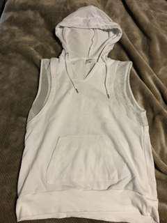 Seed sleeveless hoodie
