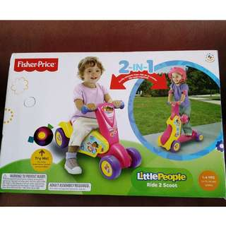 fisher price ride to scoot 2in1