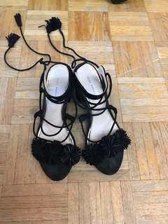 Zara lace sandals size 6