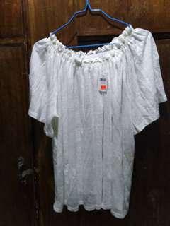 GAP Plus Size White Off Shoulder Blouse