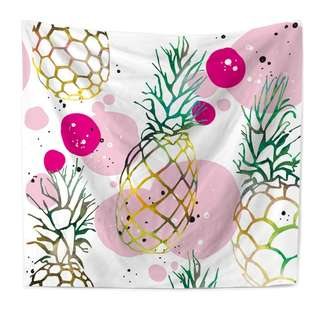 Large Pineapple Abstract Printed Tapestry Wall Hang Decor