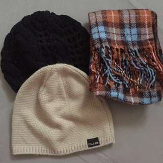 Winter Beanies and Scarf
