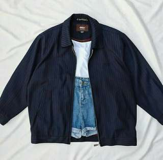 Navy/Dark blue pinstripe jacket (UNISEX)