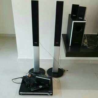 [RP$1300] Very New Samsung DVD Home Cinema Entertainment System (7 Pieces Set)