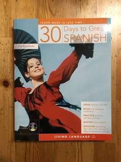 Spanish. Book and CD. Language learning.
