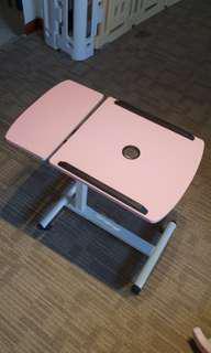 Bedside laptop adjustable table