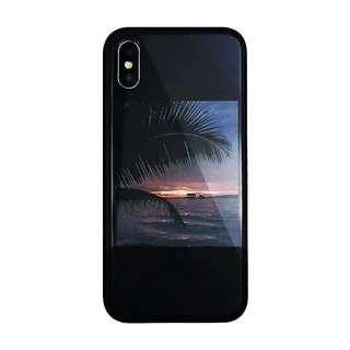 陽光與海灘 玻璃面iPhone case