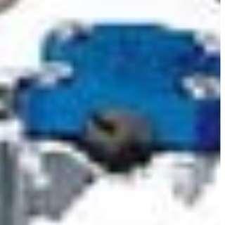 Medium Blue Metal Case Cap with Secure Screws