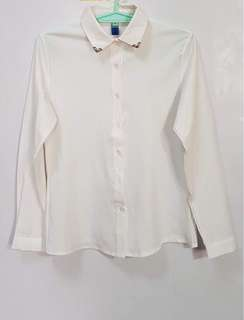 WHITE LONGSLEEVES TOP
