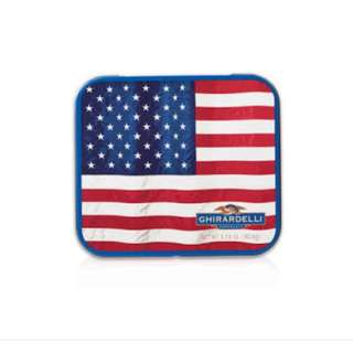 Ghirardelli Square Chocolate in American Flag Postcard Tin (6 pcs)