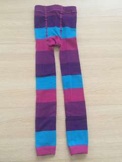 Colourful Stripey Footless Tights