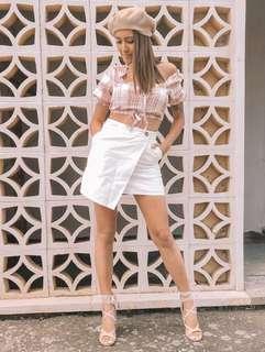 // dollygirlfashion- white skirt