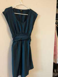 HM dark turquoise dress