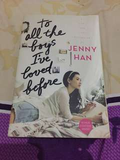 To All The Boys I Loved Berfore - Jenny Han