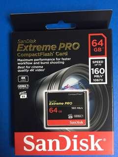 SanDisk Extreme Pro Compact Flash Card 64GB SDCFXPS-064G