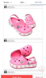 CROCS mickey shoe PINK J1