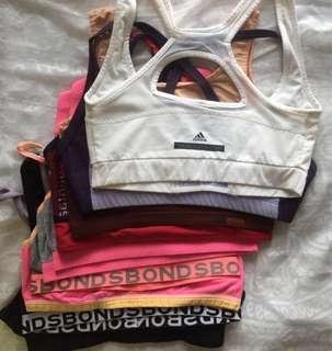 yoga bra top (assorted) $30x 4; SM $60