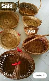 Rattan Woven Cane Basket