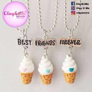ICE CREAM BEST FRIENDS FOREVER chain necklace