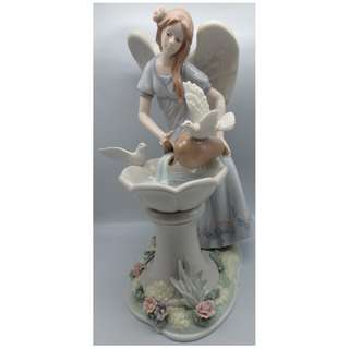 "陶瓷天使 12""w/White pigeon"