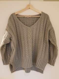 Grey chunky knit jumper