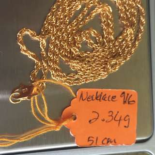 Necklace Gold 916
