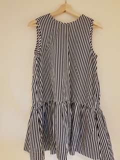 Huffer navy striped dress