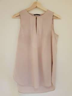 Blush pink and rose gold top
