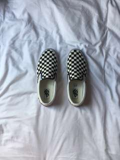 AUTHENTIC - VANS - checkered slip-on (sandals/shoes)