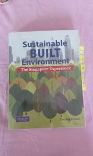Sustainable Built Environment Tan Eng Khiam Pearson The Singapore Experience NTU