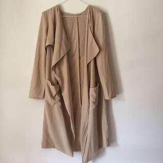 Beige light duster coat