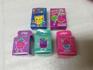 Smiggle mini erasers in tub rm4 each box NEW