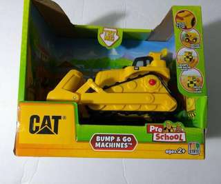 Caterpillar Bump and Go Toy Machine Bulldozer
