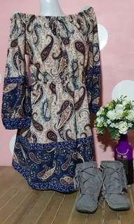 Boho inspired off shoulder dress