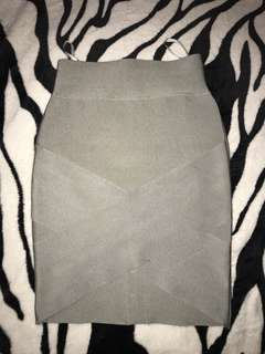 Herve leger cross skirt hi low asymmetric