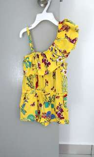 🆕 NEXT Yellow Crop Playsuits 3Y