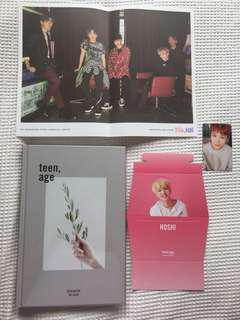 seventeen - teen, age kpop album (white ver)
