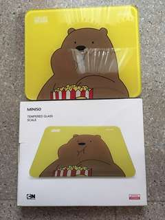 Miniso Bare Bears Weighing Scale brandnew