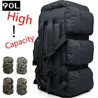 90L Camouflage Outdoor Mountaineering Bag Luggage Move Camping Tent Bag Backpack
