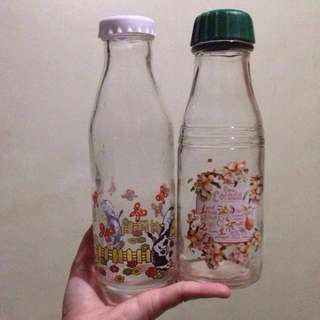 Glass Water bottles tumblers container 500ml thick glass -  2 Items Only - 190 Php EACH