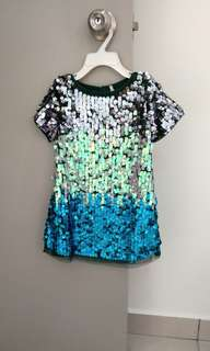 🆕 NEXT Sequin Dress Hand Sewn 2-3Y