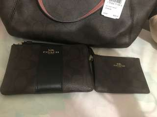 Coach  coin card holder and wristlet