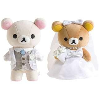 [PO] San-x Japan Western-style Wedding Plush Toy Set Korilakkuma Groom