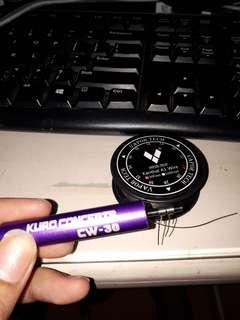 Alat Gulung coil vape + kawat 24 awg
