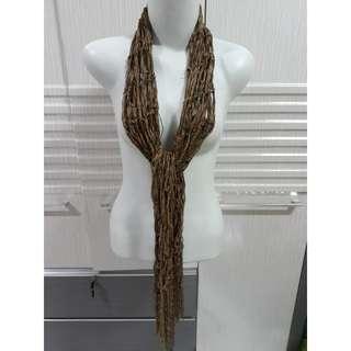 Syal coklat fashion cewek