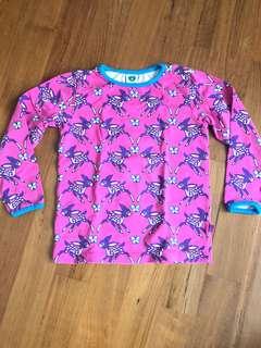Smafolk Pink Purple Printed Deers Long Sleeves Top Girls 3-4yrs