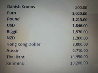 Selling foreign currency at Arcade rate