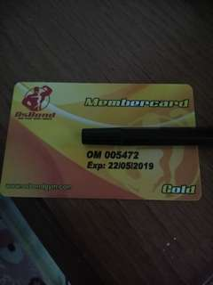 Member Card Osbond Gym