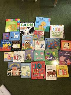25  Board Books children's books Peppa Sandra Boynton Eric Carle Campbell Eric Hill