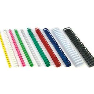 Plastic Ring Binders-Spines (All Sizes + Colours)